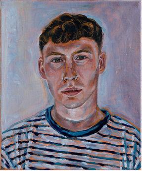 self portrait,30 x 25cm,Oil on linen 202
