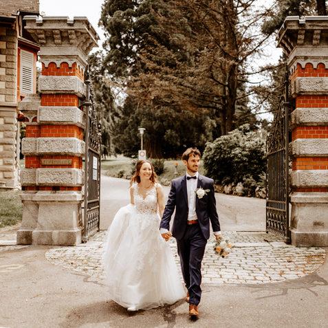 Brautpaashooting beim Konsipark