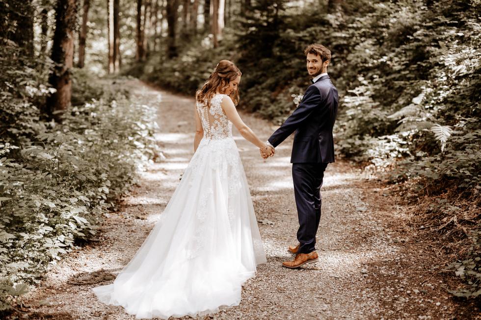 Brautpaarshooting beim im Wald 17