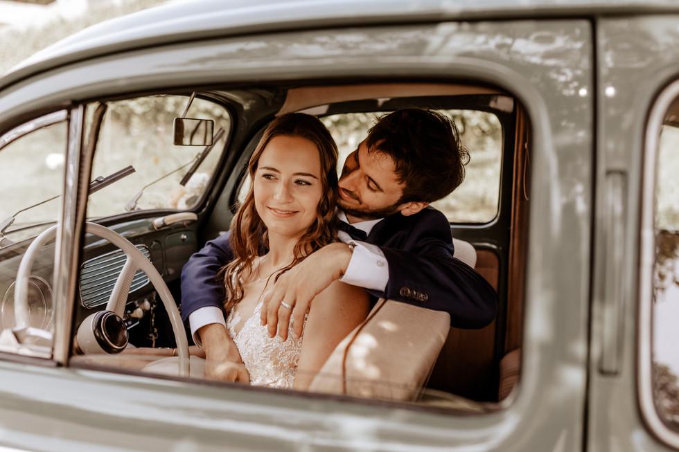 Brautpaarshooting beim Seeburghof mit Oldtimer VW Käfer 4