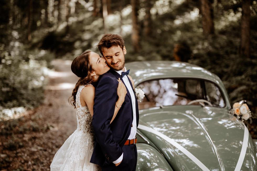Brautpaarshooting beim im Wald 9