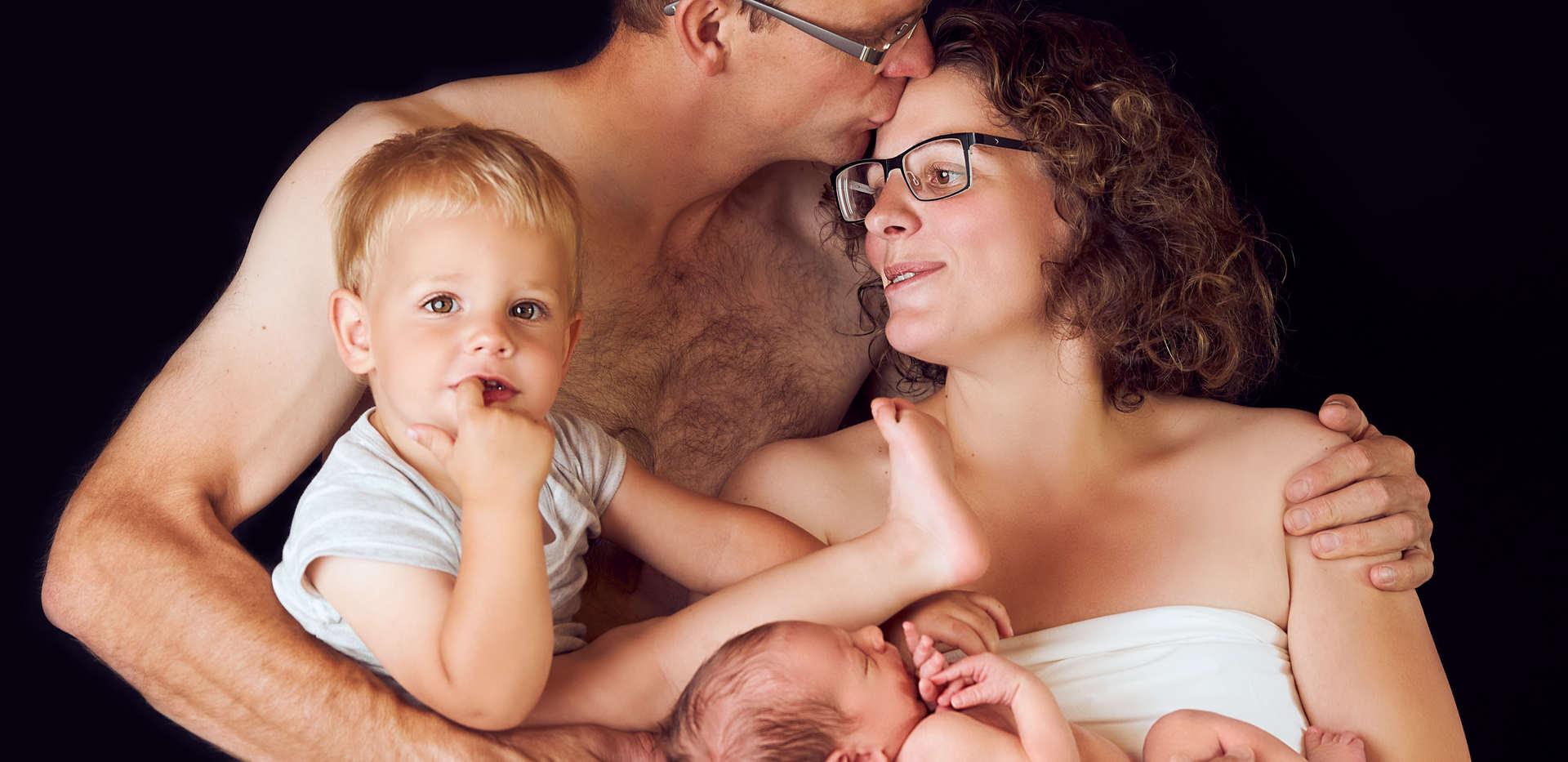 Familien und newbornfotograf