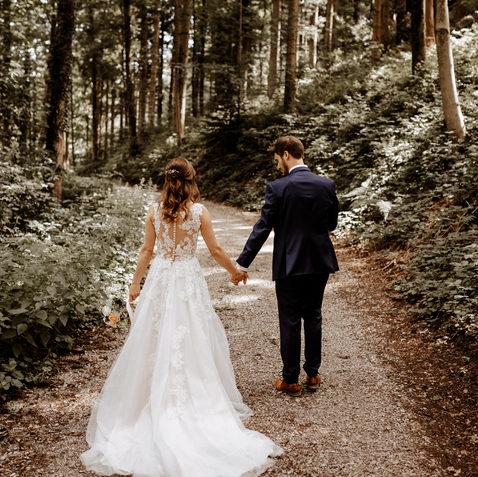 Hochzeitsfotograf Zentralschweizbrautpaartshooting im Wald
