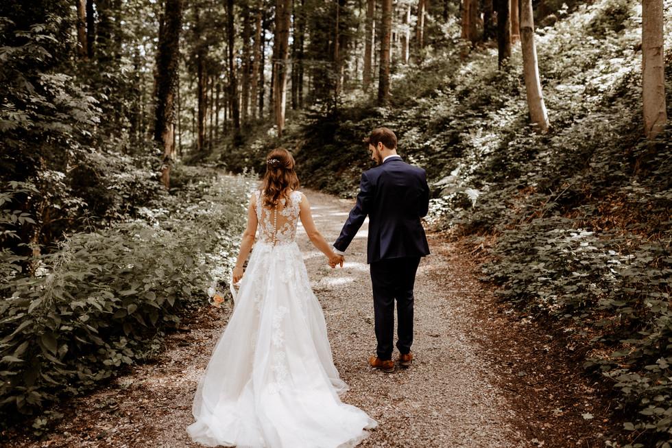 Brautpaarshooting beim im Wald
