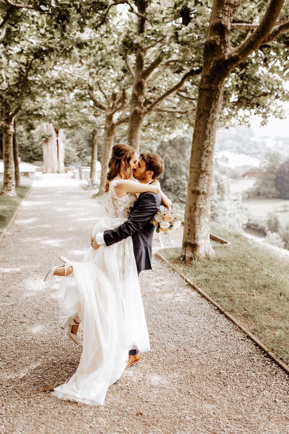 Brautpaarshooting beim im Waldg