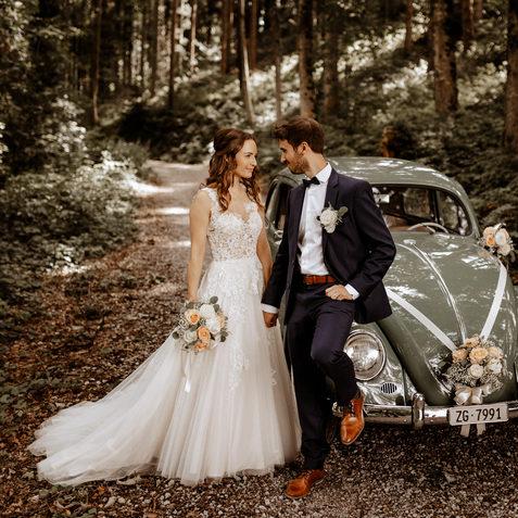 Hochzeitsfotograf Zentralschweizbrautpaartshooting im Wald 2
