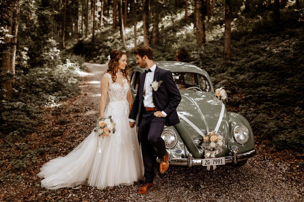 Brautpaarshooting beim im Wald 2