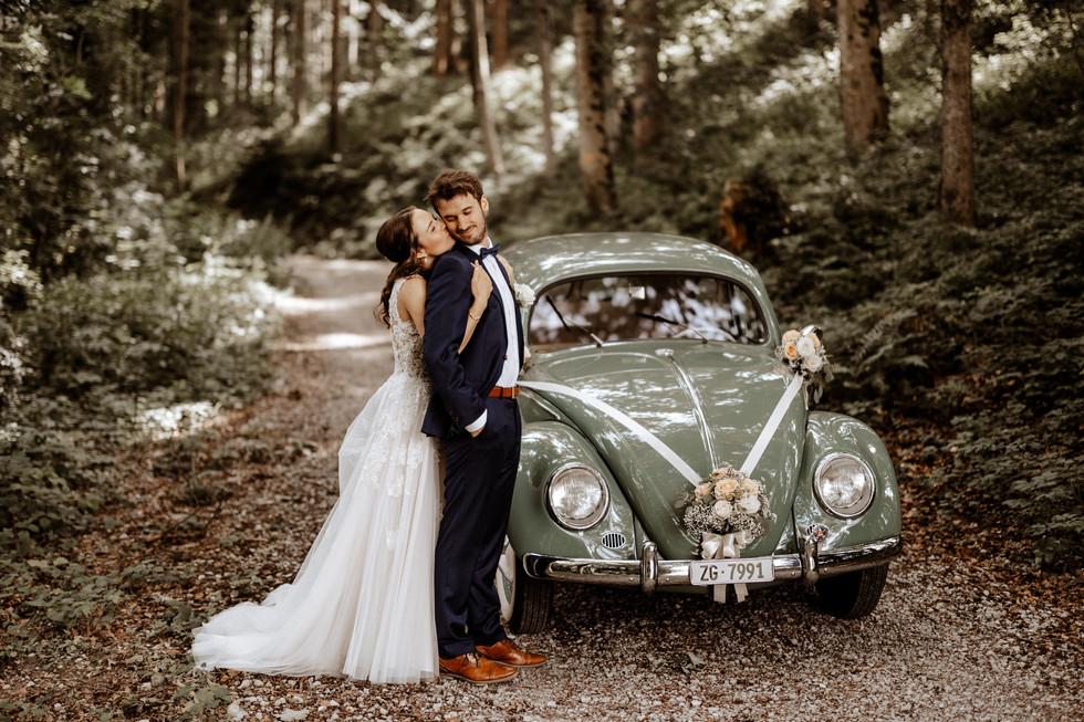Brautpaarshooting beim im Wald 8