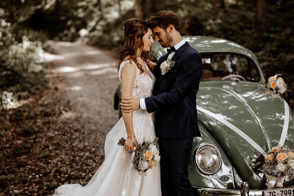 Brautpaarshooting beim im Wald 6