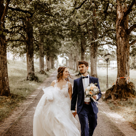 Brautpaarshooting bei derVilla Krämerstein in Ho
