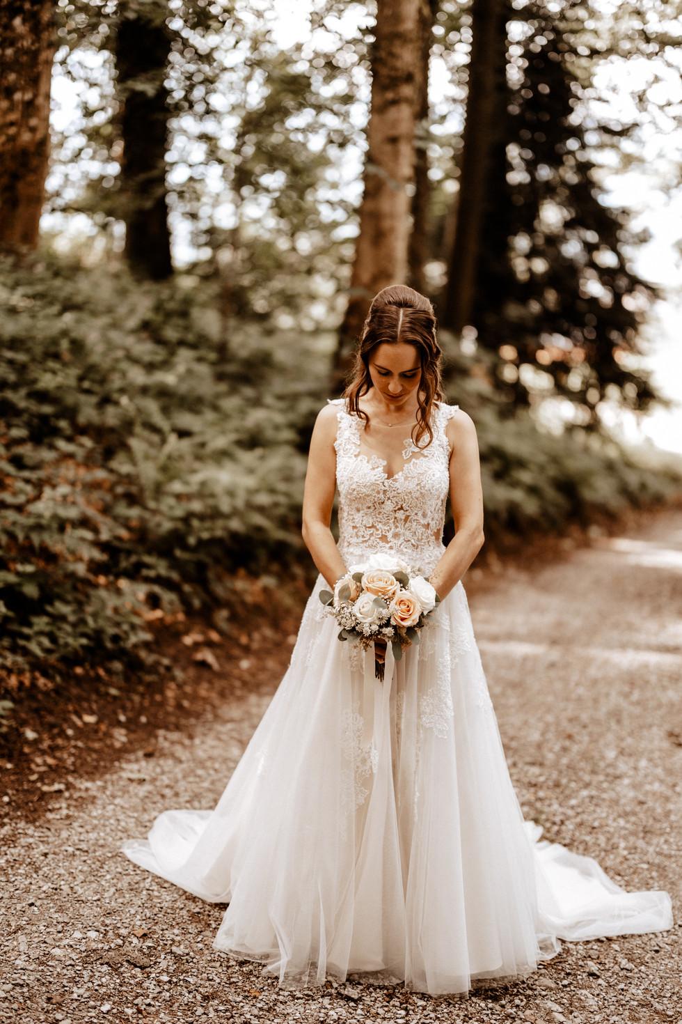 Brautpaarshooting beim im Wald 16