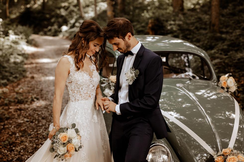 Brautpaarshooting beim im Wald 3