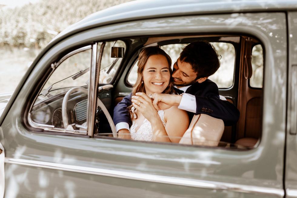 Brautpaarshooting beim Seeburghof mit Oldtimer VW Käfer 3