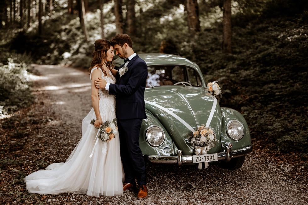Brautpaarshooting beim im Wald 7