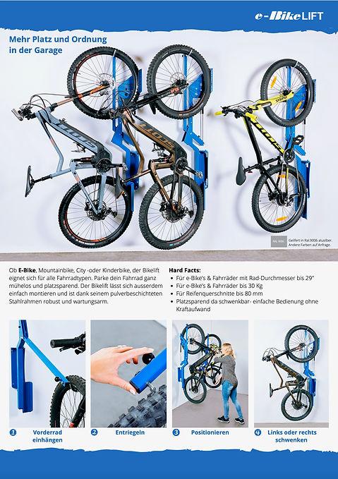 Flyer - Gestaltung - ebike Wandhalterung