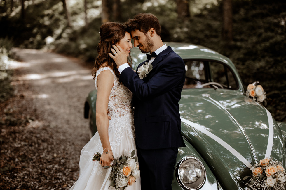 Brautpaarshooting beim im Wald 5