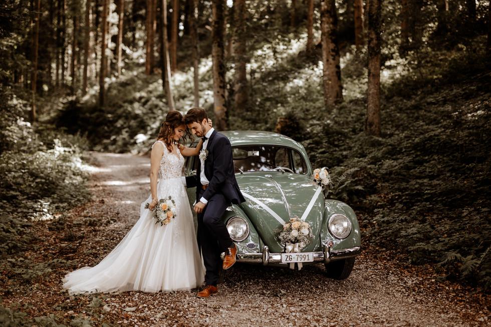 Brautpaarshooting beim im Wald 4