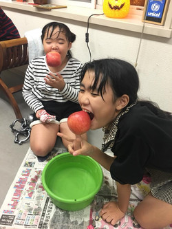 bobbing for apples !