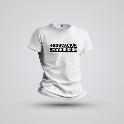 Camiseta #deliberar +educación -prohibición