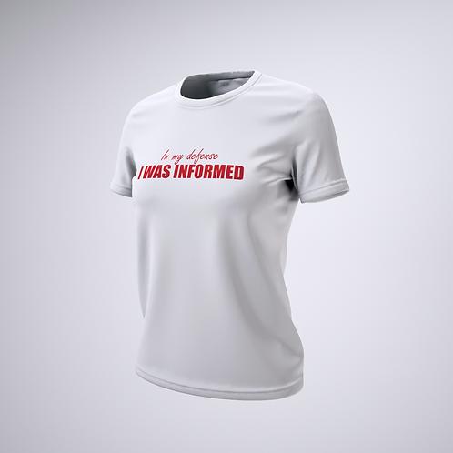 Camiseta #deliberar In my defense I was informed