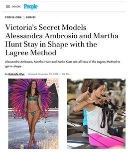 Victoria's Secret Models Stay in Shape with the Lagree Method