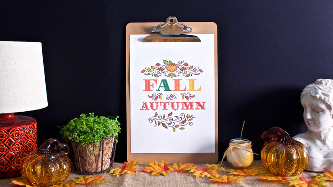 Free Printable - Fall for Autumn