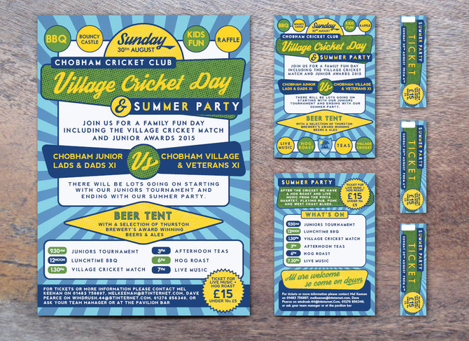 Poster Design - Chobham Cricket Club