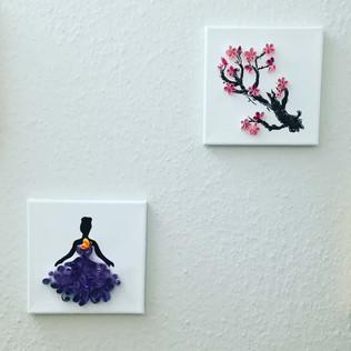 Tänzerin und Kirschblüte