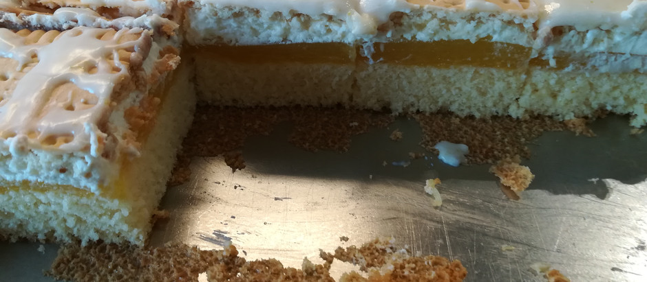 Zitronenkekskuchen (ergibt ein kleines Backblech ca. 33x36cm)