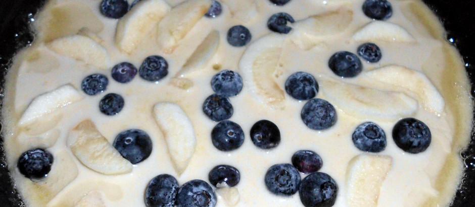 süße Polenta-Pfannkuchen