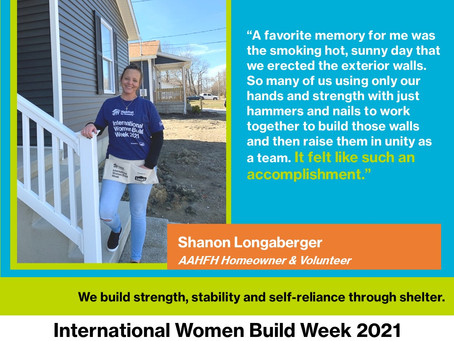Meet Shanon! Habitat Partner and Volunteer Shares her Experiences On-Site and as a New Homeowner.