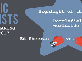 Highlight of the month: top music artists Ed Sheeran and Drake duke it out for No. 1 spot worldwide