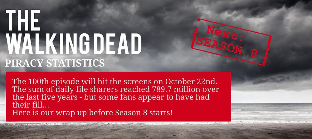 The Walking Dead Season 8 piracy statistics