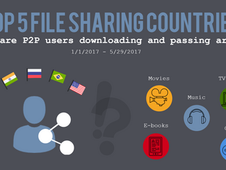 Top file sharing countries can't seem to agree on what they use P2P networks for