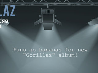 Gorillaz - Back on the scene after not having produced an album since 2010, Gorillaz clambers up fro