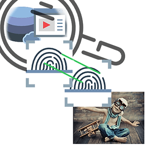 Visual search with digial fingerprints