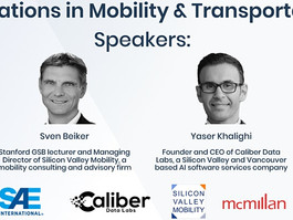Dr. Sven Beiker of Stanford GSB and SAE join Caliber for the 1st Innovations in Mobility Event!