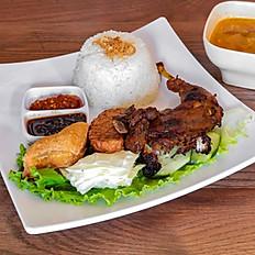 Nasi Ayam Bakar / Traditional Grilled Chicken
