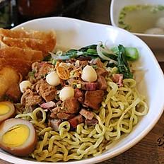 Bakmi Ijo / Homemade Green Vegetable Noodle