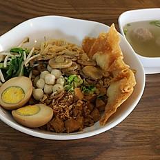 Bakmi Ayam Jamur / Chicken Mushroom Noodle