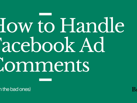 How To Handle Facebook Ad Comments