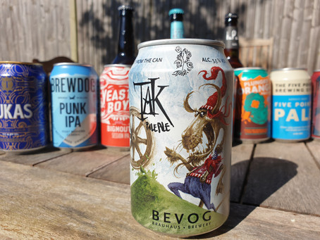 Blog #3. Bevog Tak Pale Ale - reminiscent, in the wrong way.