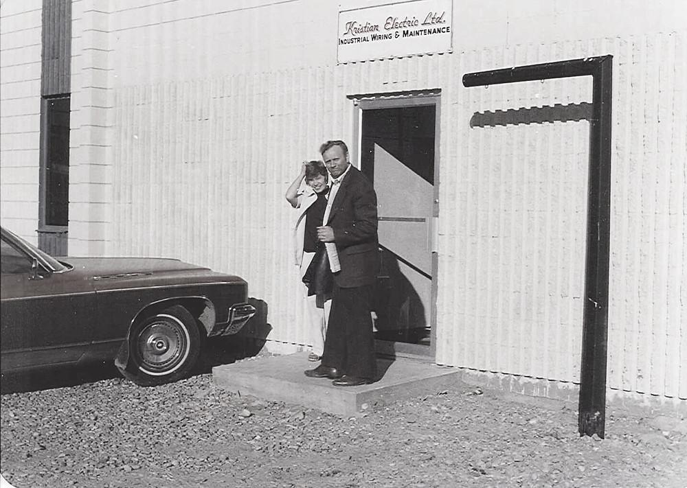 Bjorn Kristian Gjertsen and his wife Bertha circa 1965