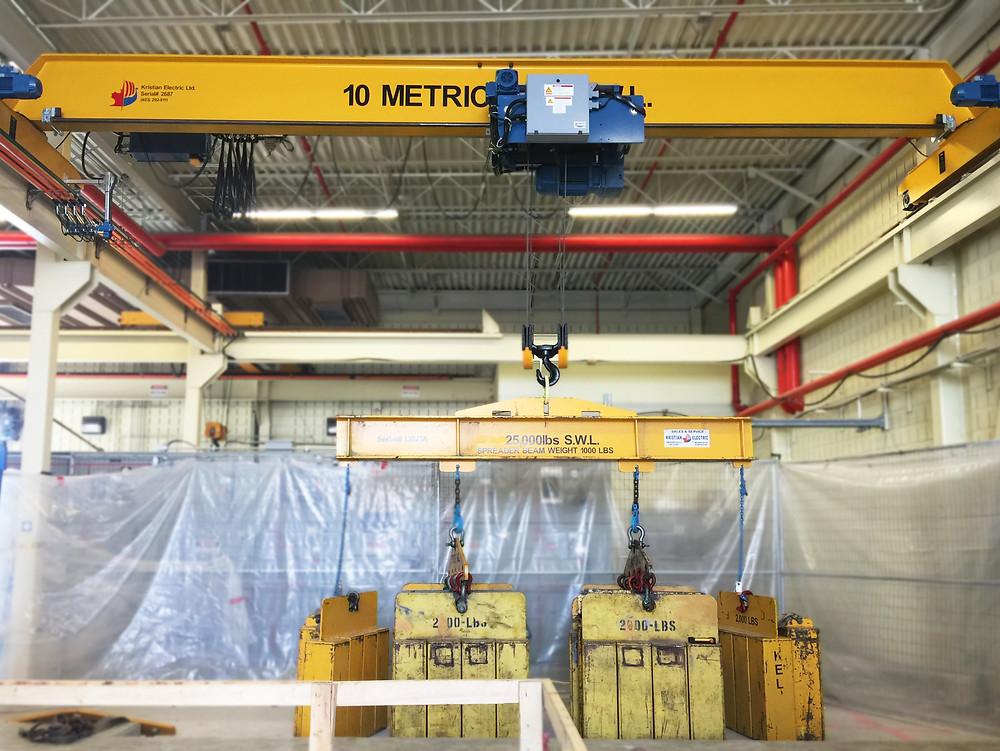 Kristian load test on a 10 metric ton bridge crane