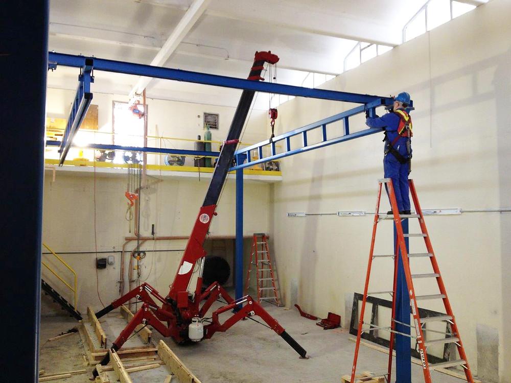 Workstation Crane Installation with a Spyder Crane
