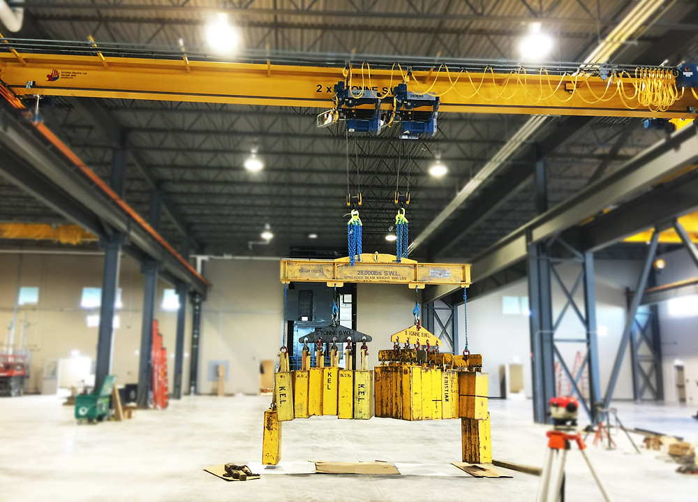 Load testing a 2x10 Tonne