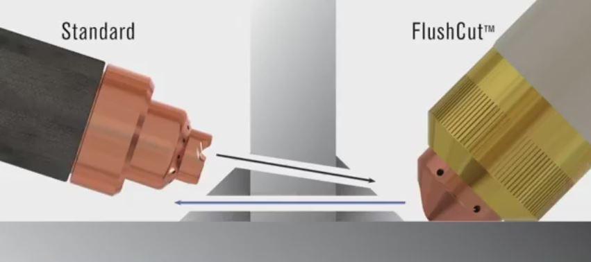 FlushCut vs. Standard cutting angles