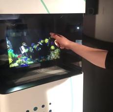 Kiosque holographique interactif