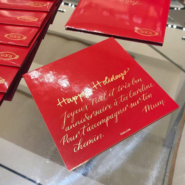 Personnalisation Calligraphie Paris Tod'