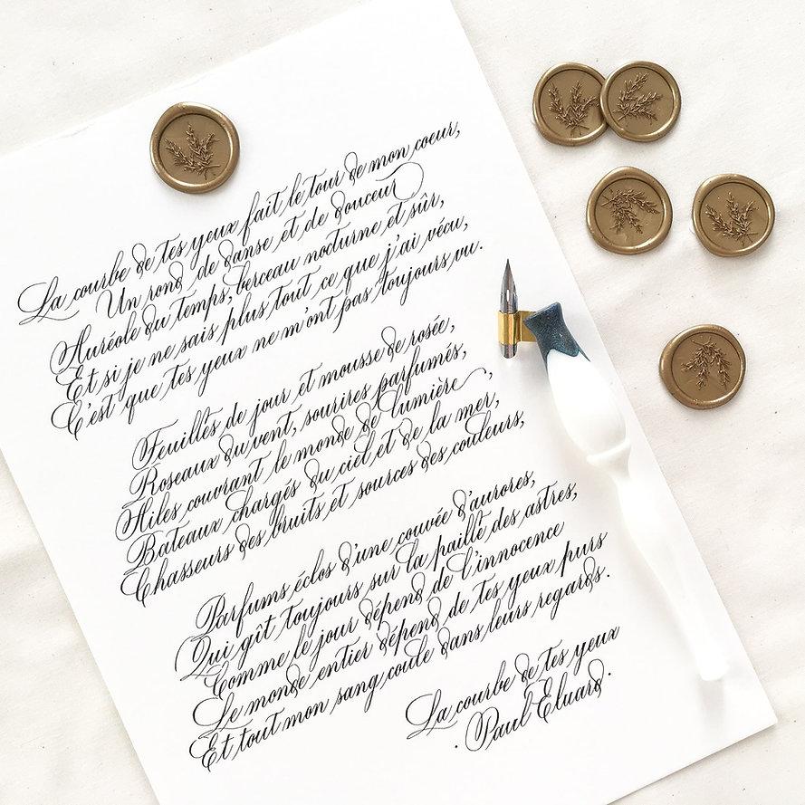 Poeme_calligraphie_Affiche_La_courbe_de_